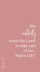 She confidently trusts the Lord Christian iPhone Wallpaper
