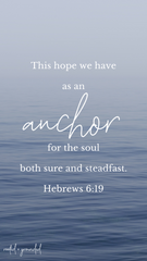This hope we have as an anchor Christian iPhone Wallpaper