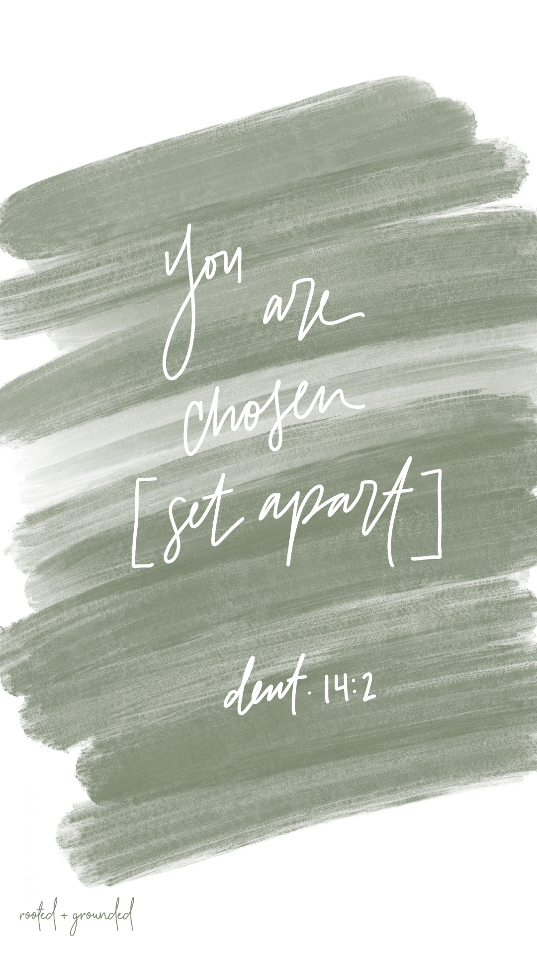 You are chosen set apart Christian iPhone Wallpaper