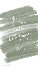 You are chosen Christian iPhone Wallpaper