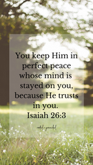 You will keep him in perfect peace Christian iPhone Wallpaper