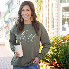 Be Still Sweatshirt Rooted and Grounded