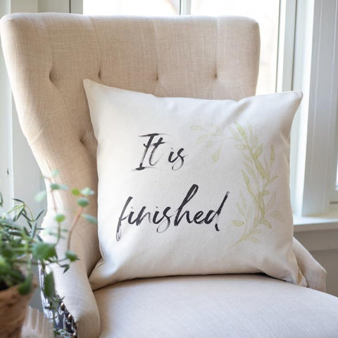 It is finished Rooted and Grounded pillow