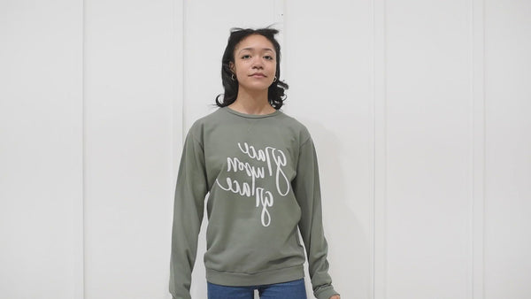 Grateful and Thankful Sweatshirt/ Hand Lettered Design