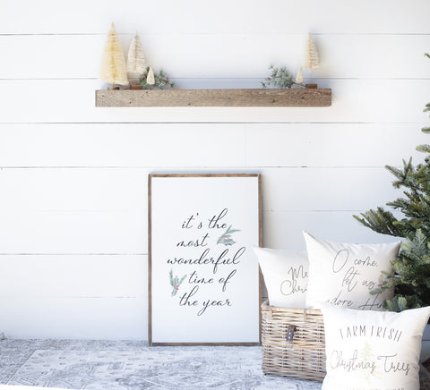 It's The Most Wonderful Time of The Year | Wood Sign