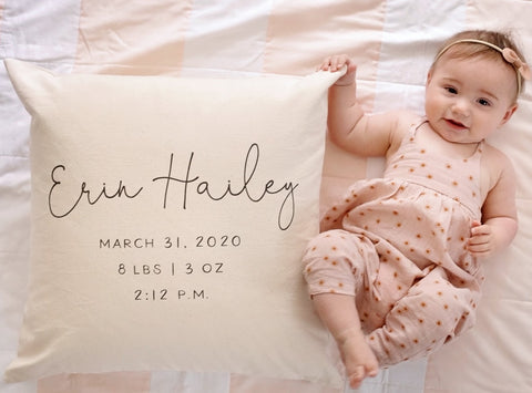 Baby Name Pillow | Custom Pillow