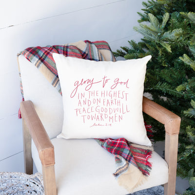 Glory to God in the Highest | Christmas Pillow