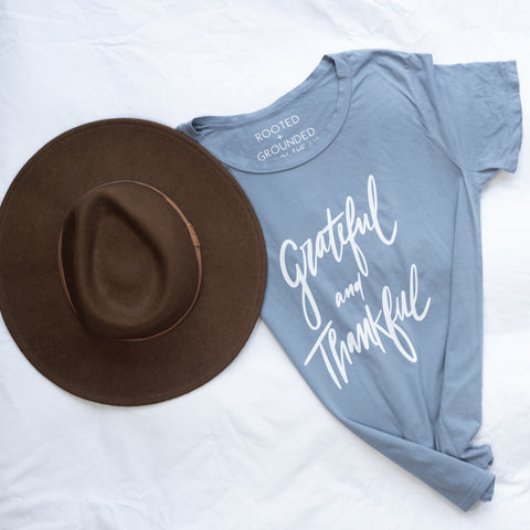 Grateful And Thankful / Hand Lettered Design