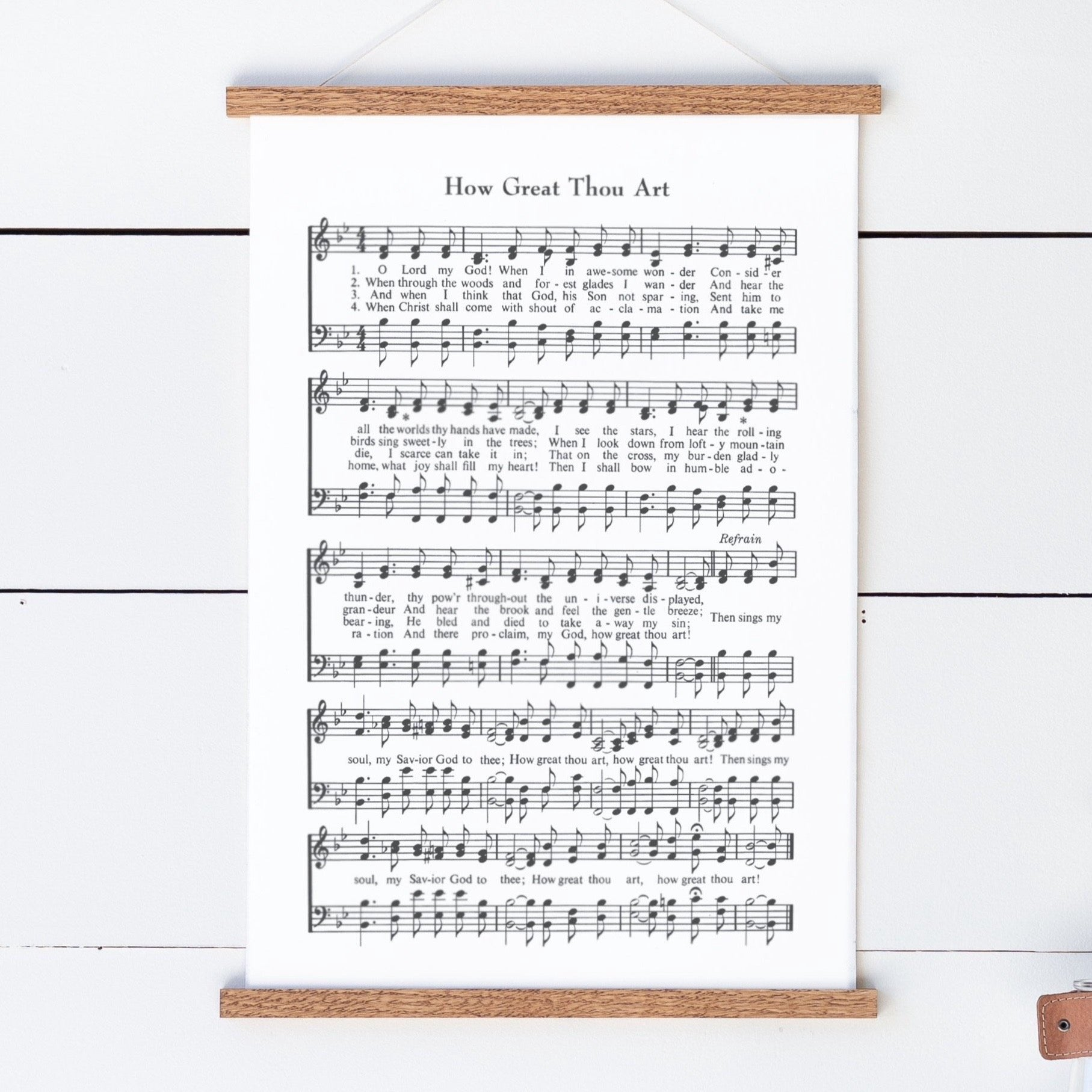 How Great Thou Art Sheet Music Hanging Canvas