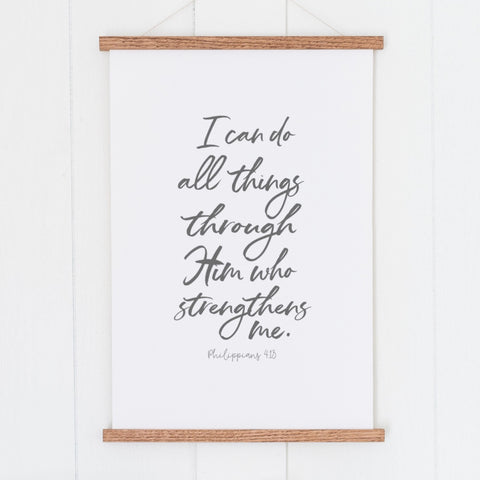 I Can Do All Things Through Christ Hanging Canvas
