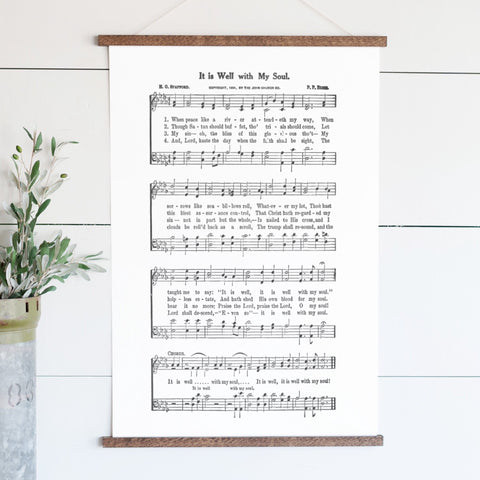 It Is Well With My Soul Sheet Music Hanging Canvas