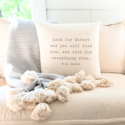 Look For Christ | Pillow