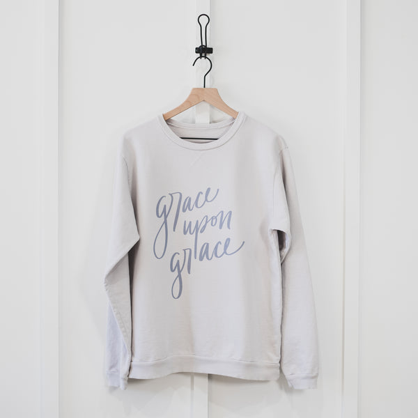 Grace Upon Grace Sweatshirt | Hand Lettered Design
