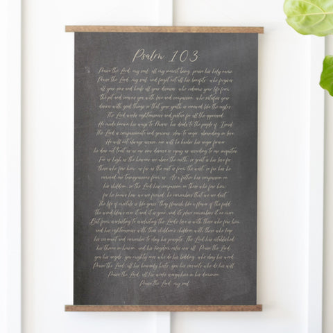 Psalm 103 Hanging Canvas