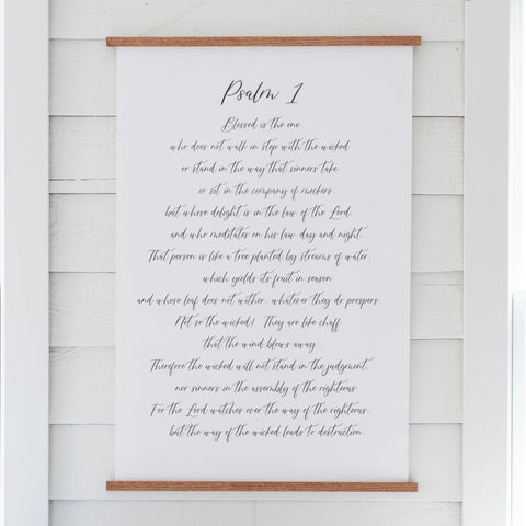 Psalm 1 Hanging Canvas