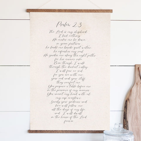Psalm 23 Hanging Canvas