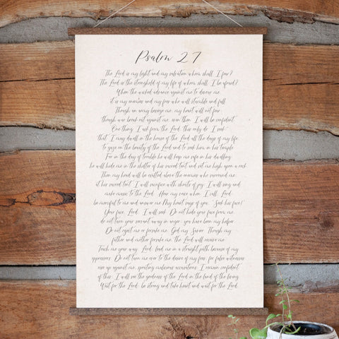 Psalm 27 Hanging Canvas