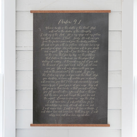 Psalm 91 Hanging Canvas