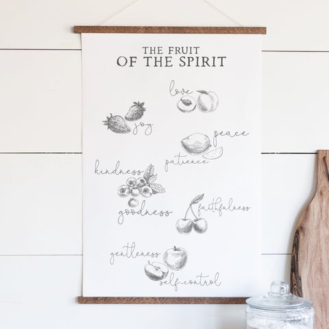Fruit of the Spirit Hanging Canvas