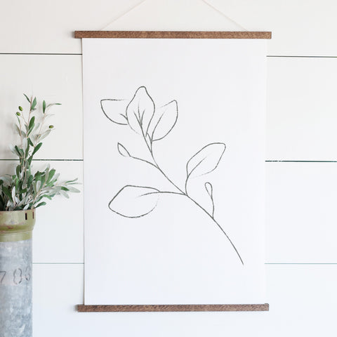 Leaves Line Art Hanging Canvas
