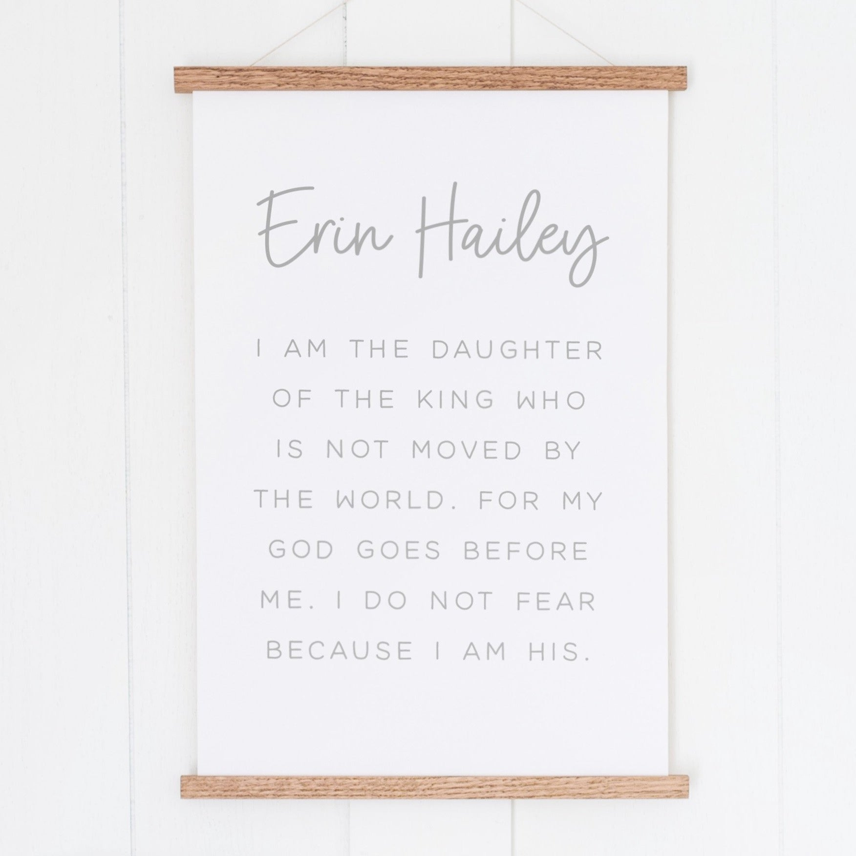 I Am a Daughter of the King Personalized | Custom Hanging Canvas