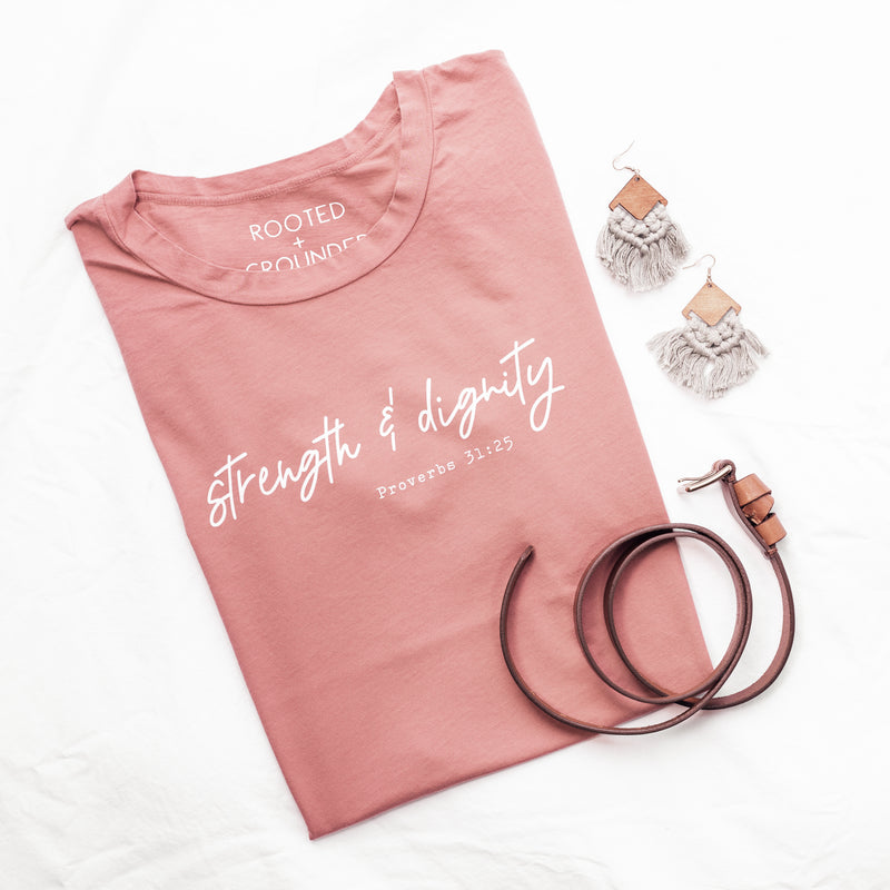 She Is Clothed In Strength And Dignity Shirt / Proverbs 31 Shirt