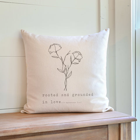 Rooted and Grounded in Love Throw Pillow