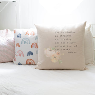 She Is Clothed In Strength And Dignity | Pillow