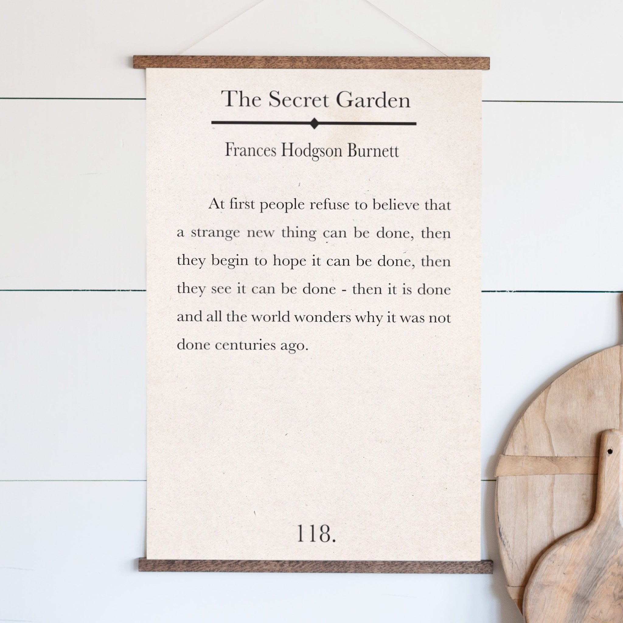 The Secret Garden Bookpage Hanging Canvas