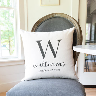 Personalized Monogram Pillow with Custom Name and Letter | Custom Pillow