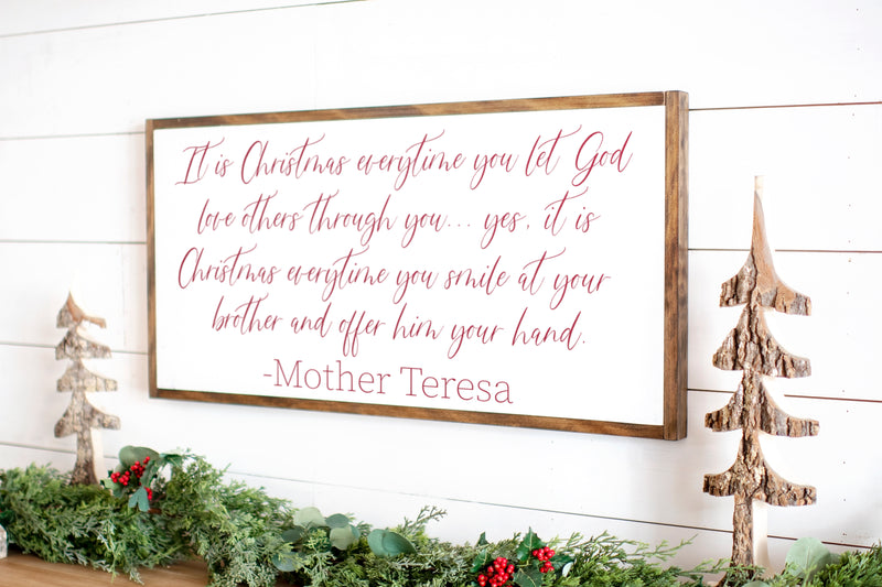 It Is Christmas | Mother Teresa