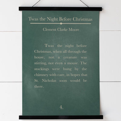 Twas The Night Before Christmas Hanging Canvas