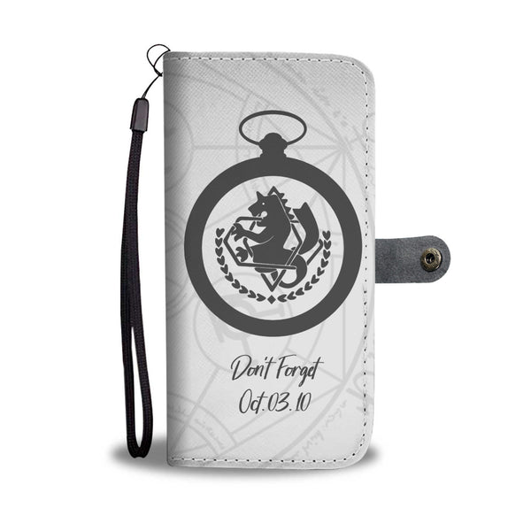 Don't Forget Fullmetal Alchemist Wallet Phone Case (Gray) - Black Rukh