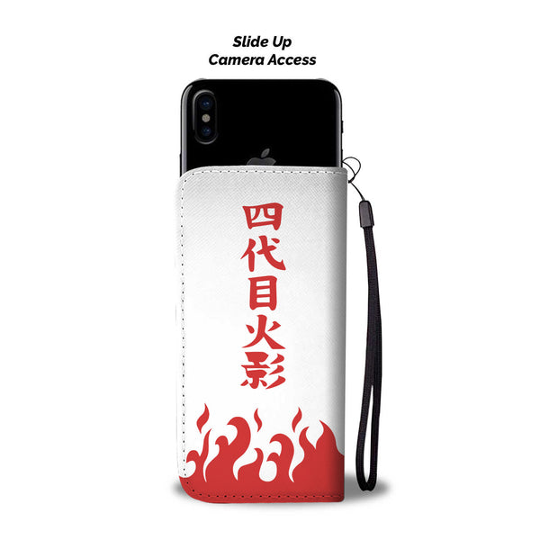 Naruto Fourth Hokage Wallet Phone Case - Black Rukh