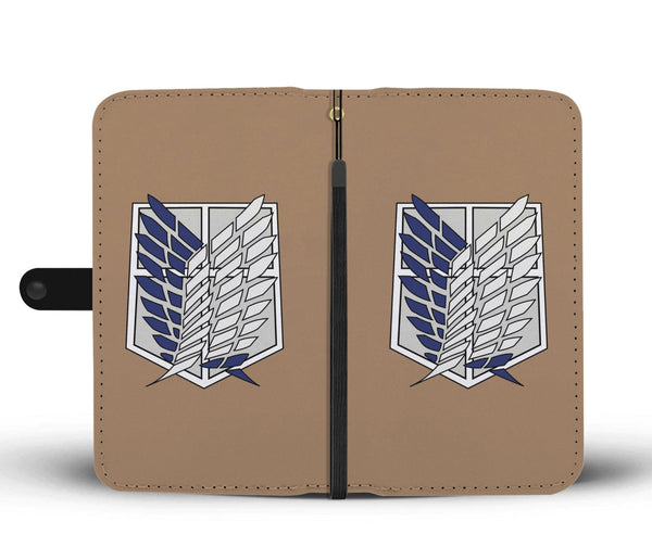 Attack on Titan Survey Corps Wallet Phone Case - Black Rukh