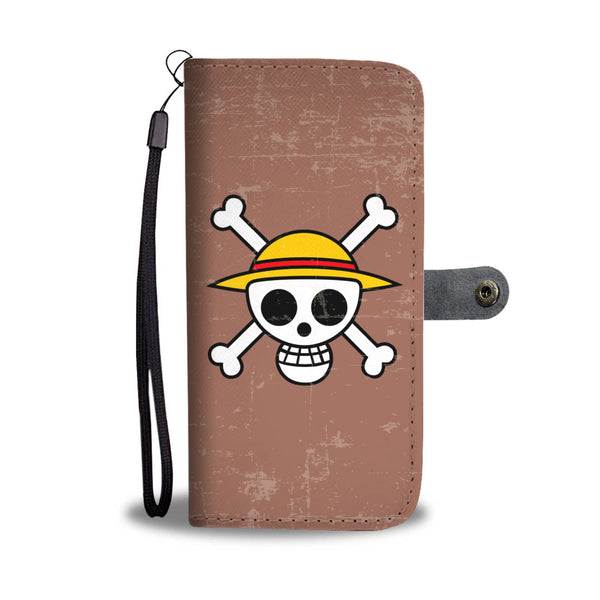 One Piece Flag Wallet Phone Case - Black Rukh
