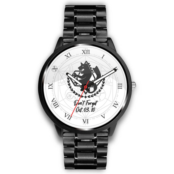 Don't Forget Fullmetal Alchemist Watch - Black Rukh