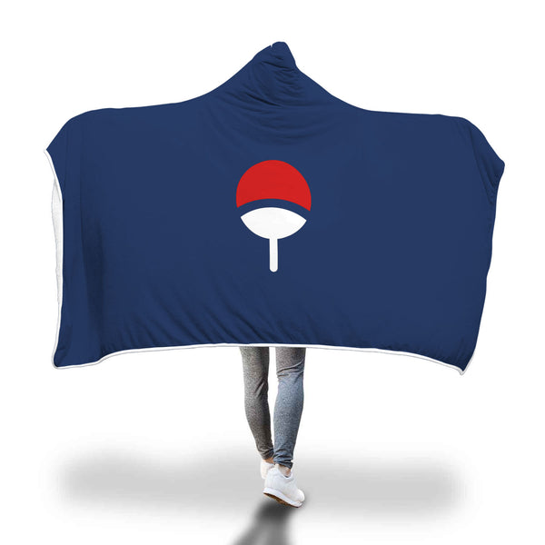 Uchiha Clan Naruto Hooded Blanket