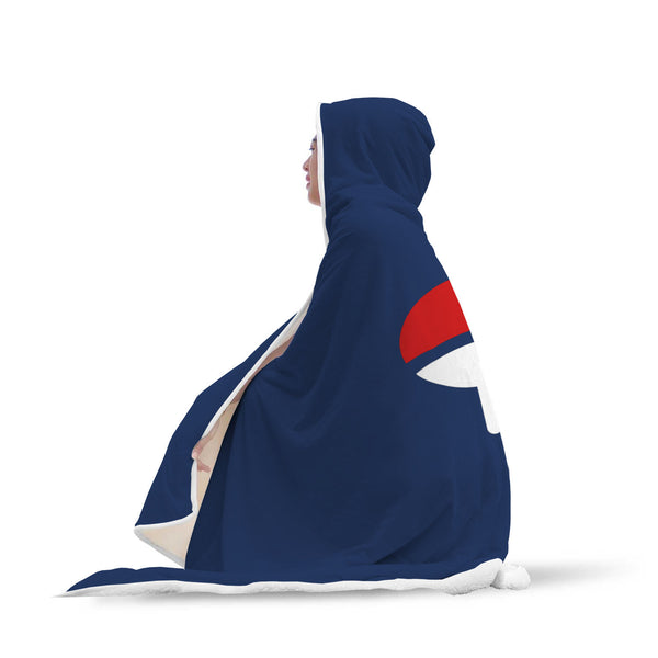 Uchiha Clan Naruto Hooded Blanket - Black Rukh