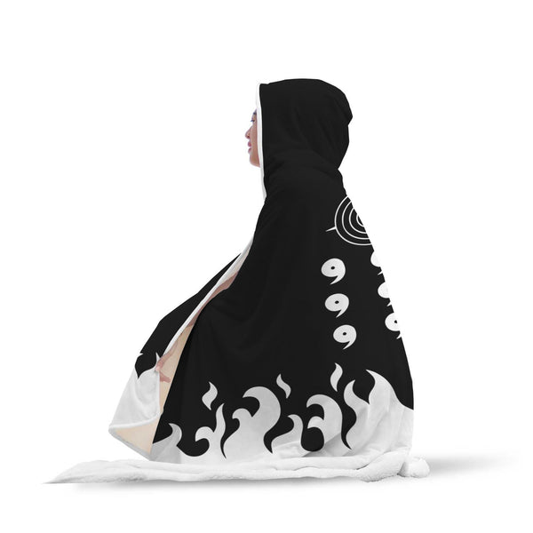 Naruto Six Sage Paths Hooded Blanket - Black Rukh