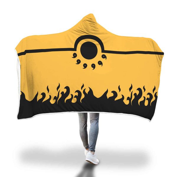 Naruto Nine Tails Cloak Hooded Blanket - Black Rukh