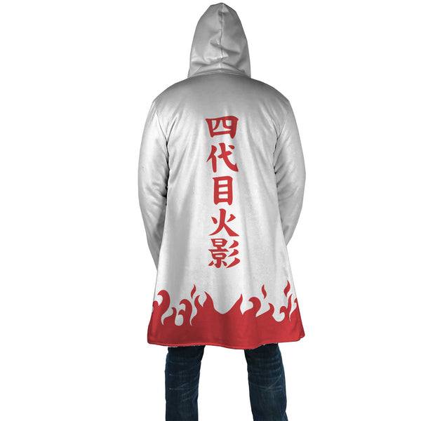 Naruto Fourth Hokage AOP Cloak - Black Rukh