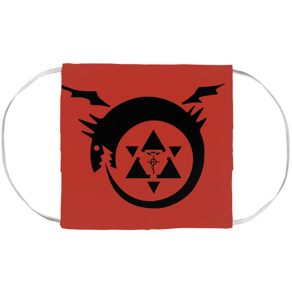 Ouroboros Fullmetal Alchemist Face Mask Covers - Black Rukh
