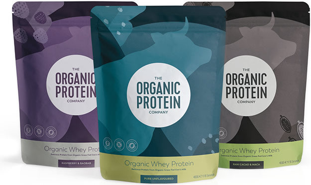 the packs of organic whey protein