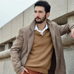 man pea coat outdoor