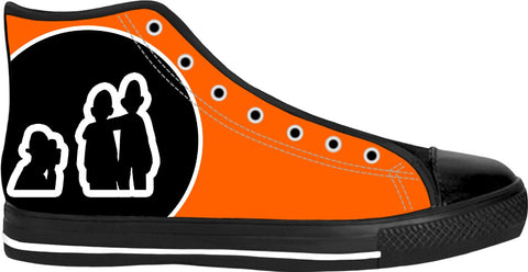 "Moodlins ""Say Cheese"" Neon Orange High Tops"