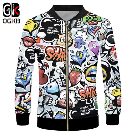 3d Psychedelic Men's Zipper Jacket