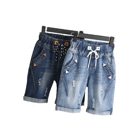 Distressed Denim Trousers and Shorts