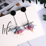 Boho Flower Tassel Earrings