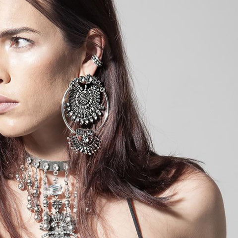 Bohemian Crystal Drop Earrings